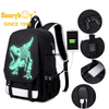 Unisex Backpack, Kriture Luminous Fashion Casual Daypack, Water-Resistant Schoolbag with USB Charging Port and Laptop Compartment for Men Women