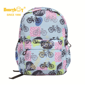 Fashion Pattern Outdoor Waterproof Nylon School Backpack HY-A120