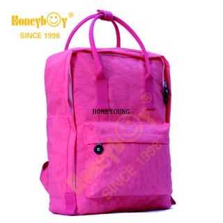 Fashionable Waterproof Fabric Macarone Soft School Backpack HY-A005