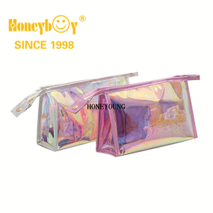 Pencil Bag Clear Cosmetics Bag Transparent Tote Bag Thick PVC Zippered Toiletry Carry Pouch Waterproof Makeup Artist Large Bag Diaper Beach Bag