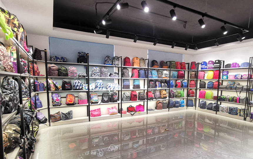 backpack showroom