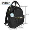 Retro Black Water-repellent Casual Laptop Backpack DIY