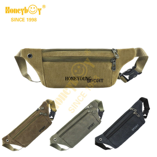 New Simple Adjustable Outdoor Canvas Waist Bag HY-O003