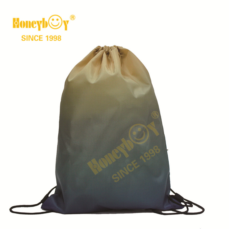 Kids Punching Drawstring Backpack with Gradient Color HY-K005