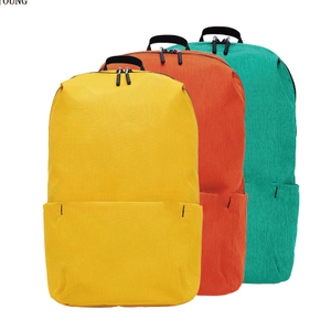 Two Tone Promotional Backpack with Side Pockets HY-A112