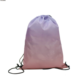 Fashion 210D Polyester Gradient Ramp Drawstring Bag HY-K005