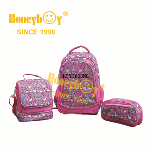 Fashion Printing Gilrs Student School Backpack Set