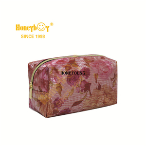 Flower Pattern Waterproof Teenagers Girls Cosmetic Bag