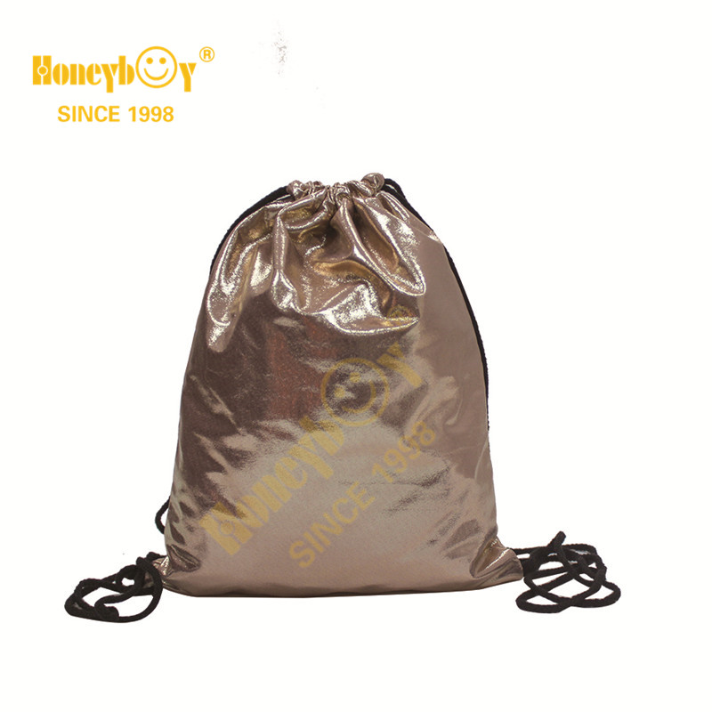 Designer Mini Soft PU Fabric Drawstring Backpack