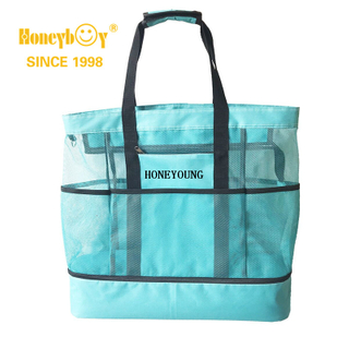 Large Travel Mesh Waterproof Polyester Beach Bag HY-H005