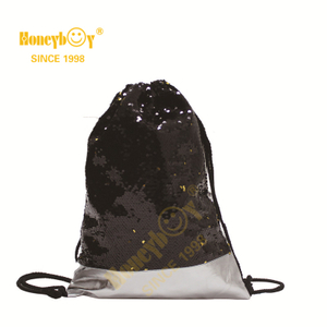 Punching Bag Sequin Glitter Paillette Drawstring Backpack