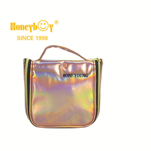 New Customized Holiday Pu Leather Cosmetic Bag