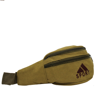 Adult Sport Canvas Two Compartment Waist Bag