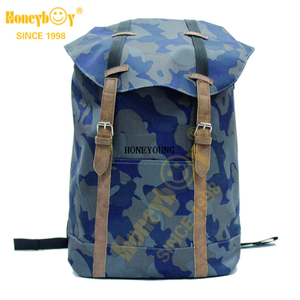 Camo Pu Strap Mens Hiking Outdoor Bag HY-B003-A