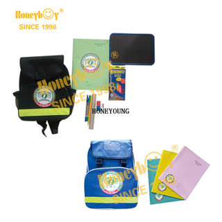 Light Multifunctional Custom Statinery School Backpack Set HY-G017
