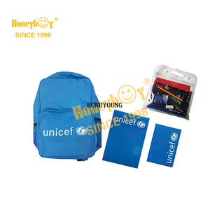 Hot Sale Unicef Stationery School Backpack Set