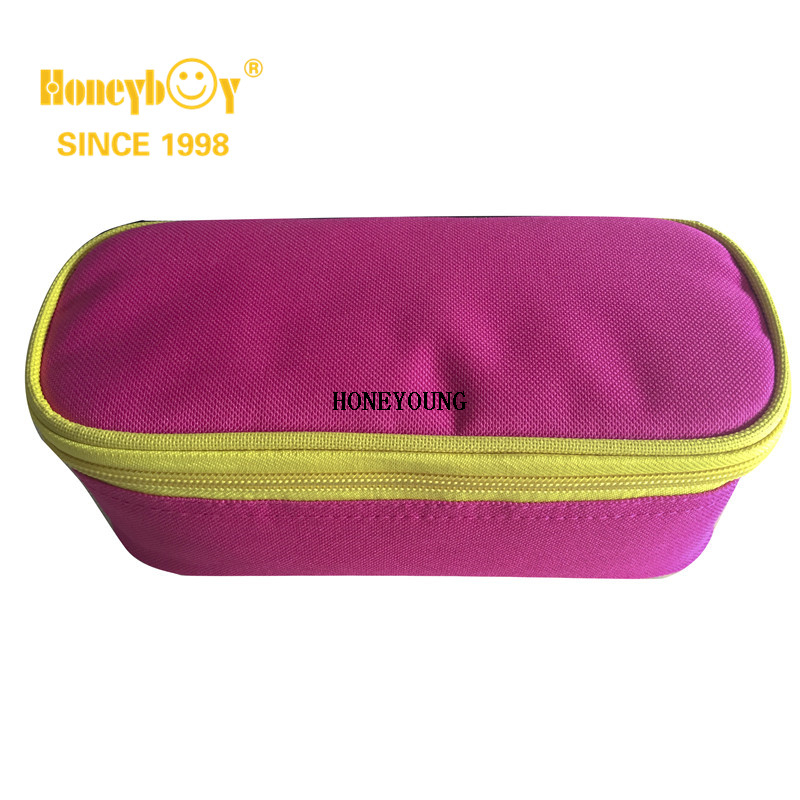 Colored Medium Sized Multifunction Ellipse Pencil Case with 12 Hole Pouch
