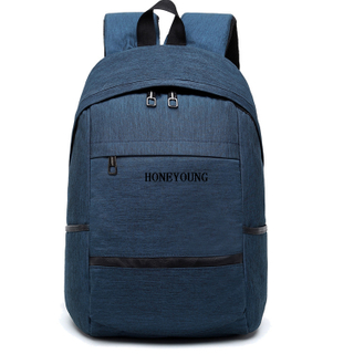 two tone material student backpack