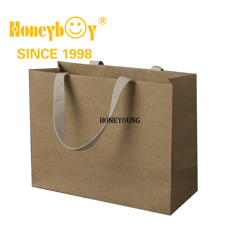 Brown Promotional Insulated Kraft Waterproof Shopping Bag HY-HS007