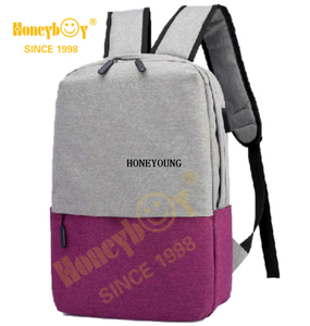 Popular Multicolor Two Tone Laptop Computer Backpack