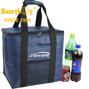 Portable Square Navy Blue Lunch Cooler Bag