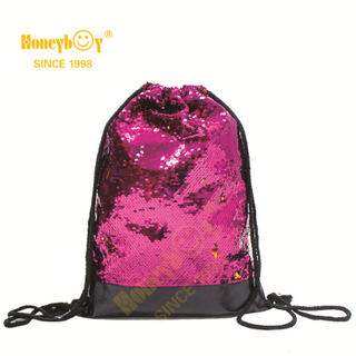 Creative Gym Sequin Glitter Paillette Drawstring Backpack HY-K006